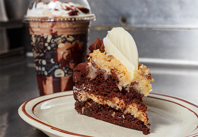 image of German Chocolate Cake with Extreme Mocha Coffee